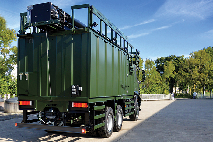Gemco Mast Army Support - 6x6 drive for remote areas