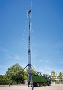 Gemco Mast Army Support - High grade aluminium telescopic antenna mast