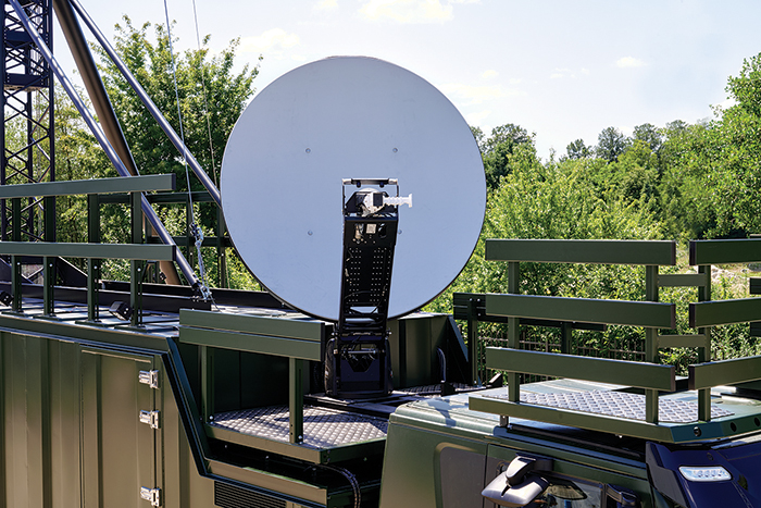 Gemco Mast Army Support - VSAT system with 1.8m or 2.4m reflector